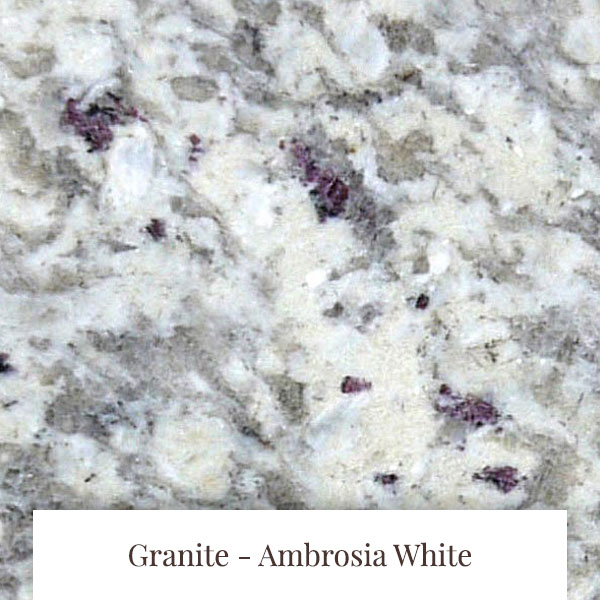 Ambrosia White Granite at South Yorkshire Marble