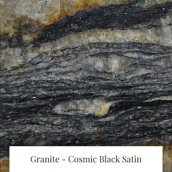Cosmic Black Satin Granite at South Yorkshire Marble