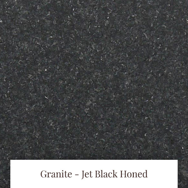 Jet Black Honed Granite at South Yorkshire Marble