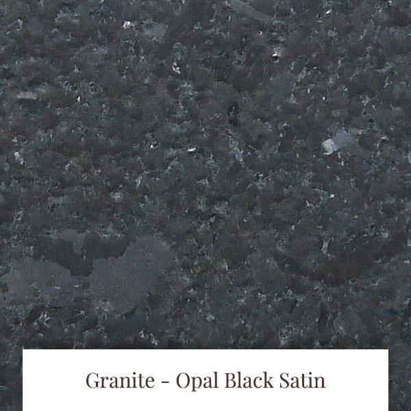 Opal Black Satin Granite at South Yorkshire Marble