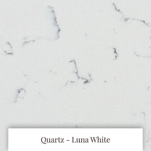 Luna White Quartz at South Yorkshire Marble