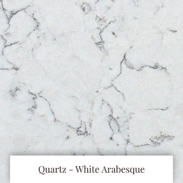 White Arabesque Quartz at South Yorkshire Marble