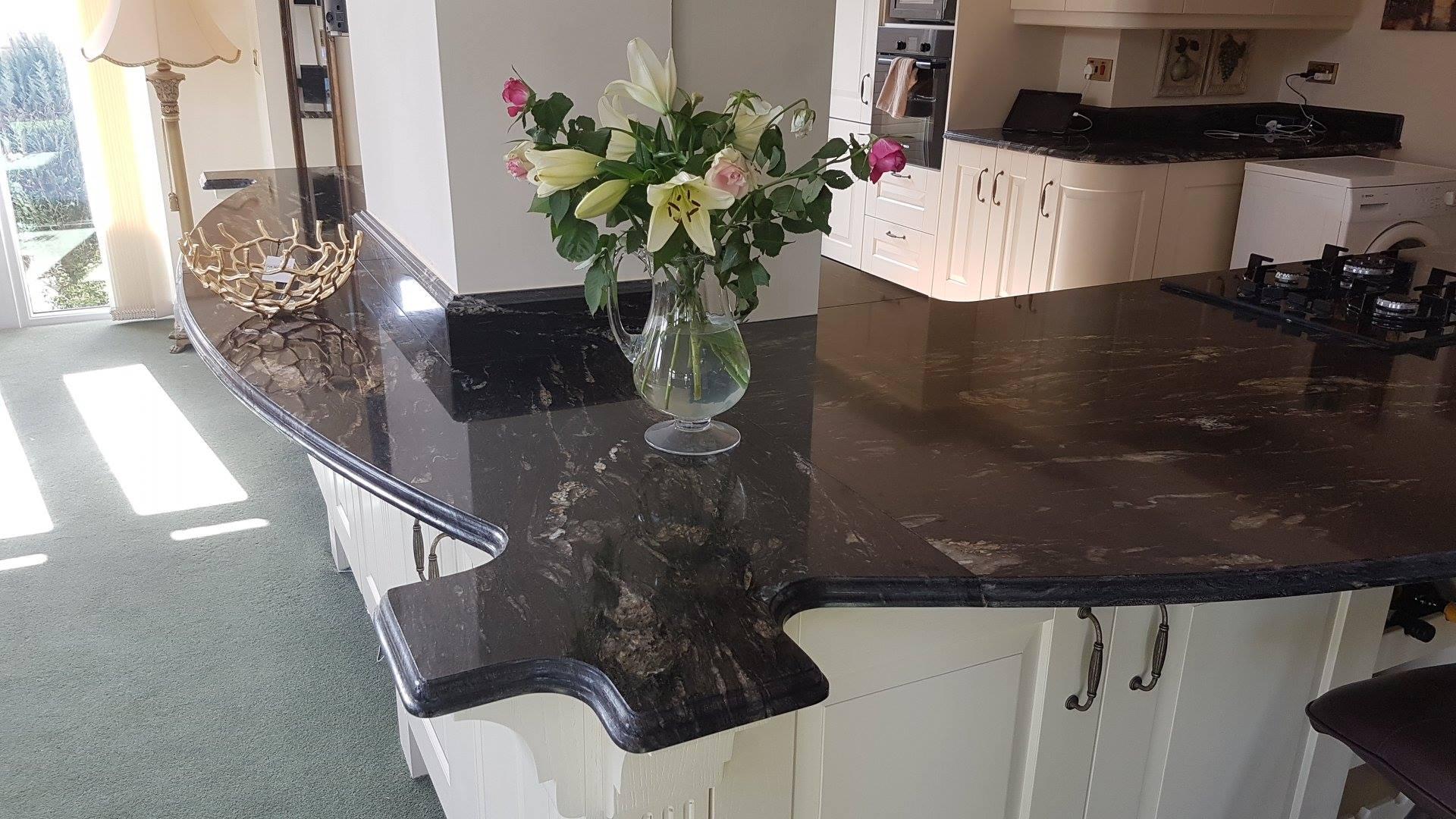 Black Cosmic Granite Kitchen Worktop